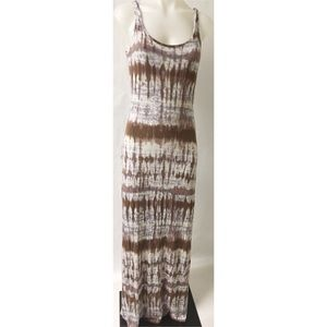 Blue & Brown Maxi Dress Size M